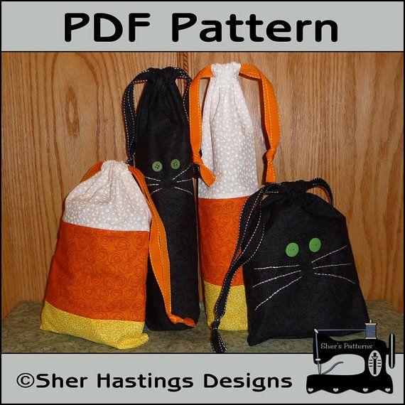 PDF Pattern for Halloween Gift Bag Pattern by ShersPatternShop, $4.95