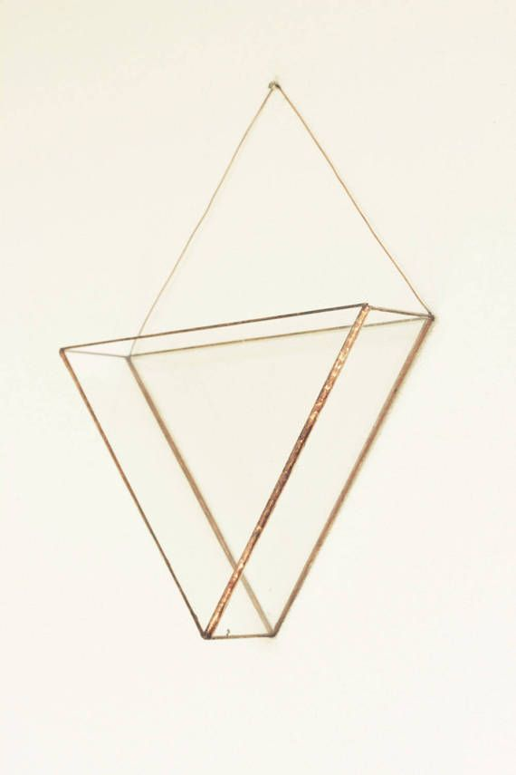 Geometric copper glass wall terrarium Indoor wall door KESKOS