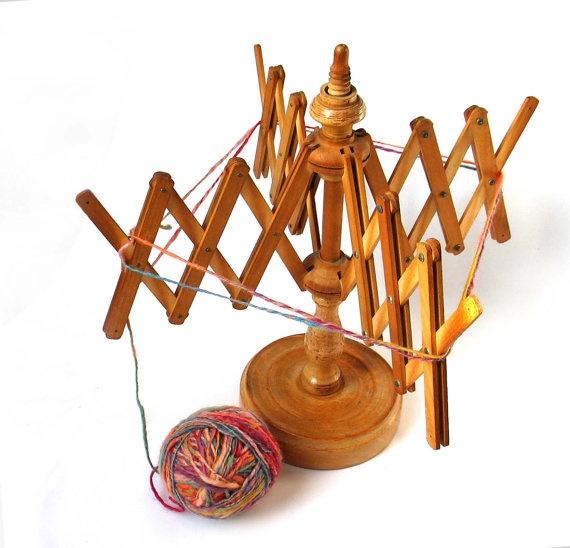 Vintage wool winder yarn winder  Retro wooden  by madlyvintage, $70.00