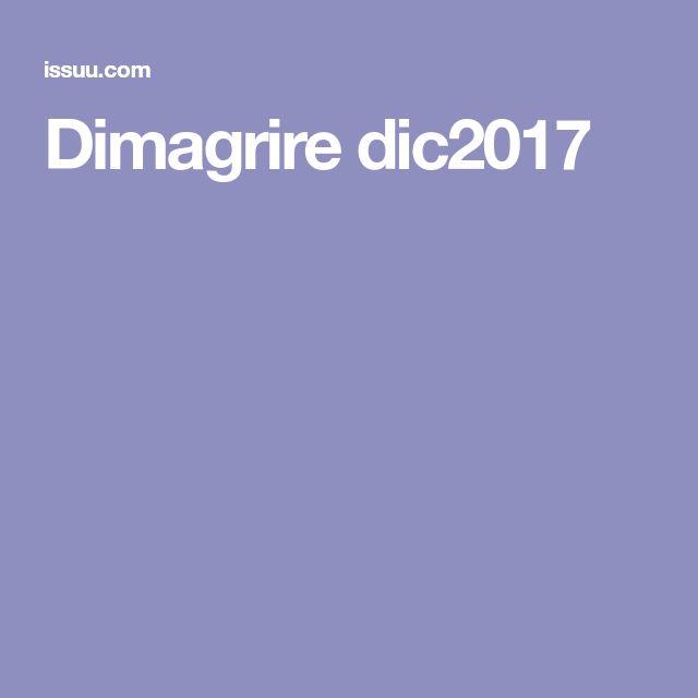 Dimagrire dic2017