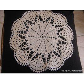 Napperon Crochet Fait Main - Réf 0568 - Blanc Cassé - Diamètre 19 - 2.50 Euros