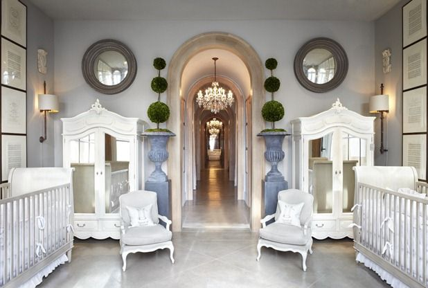 what a classy nursery! restoration hardware