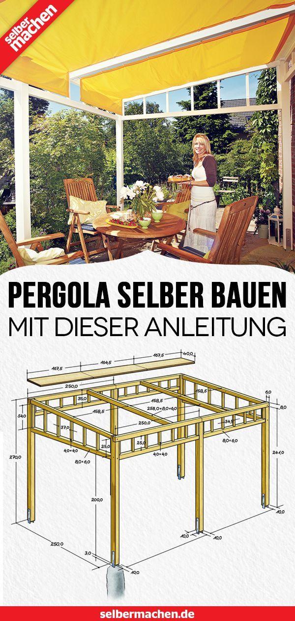 Pergola bauen: Gratis-Anleitung – #bauen #blumen #…