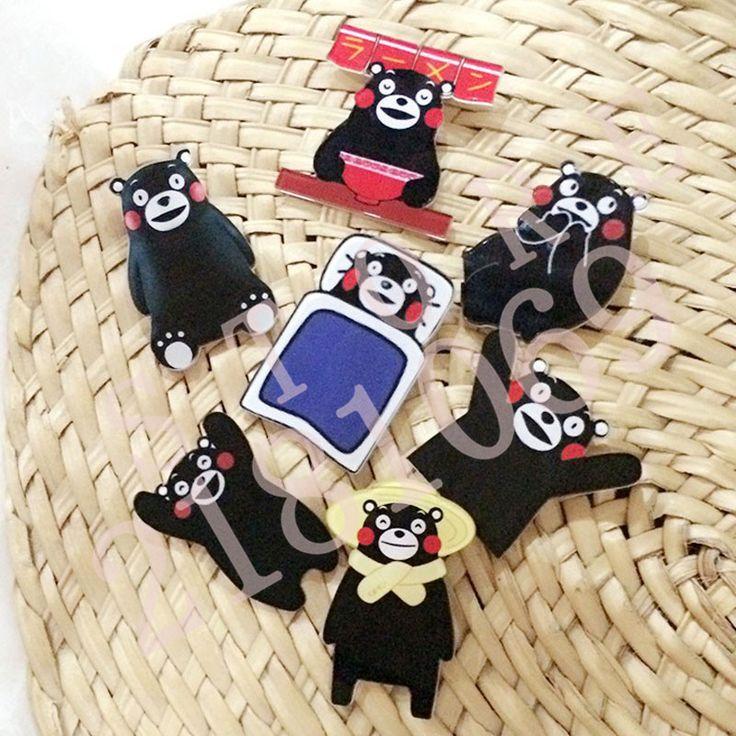 1 PCS Kartun Beruang Hitam Berbentuk Lencana Gratis Pengiriman Akrilik Pin Lencana Pakaian Pins Dekorasi Ikon Ransel Icon