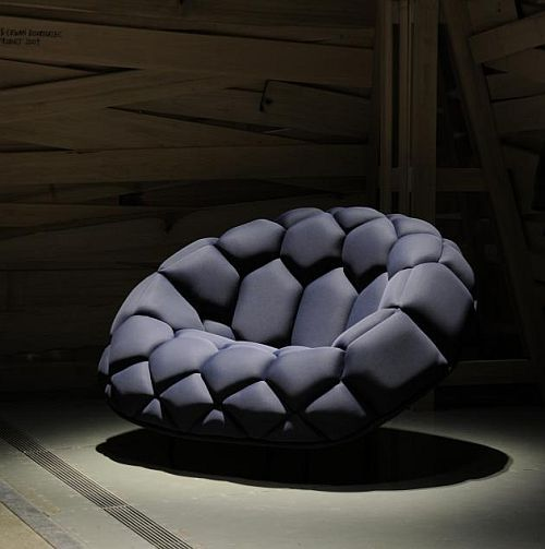 Quilt chair. Designed by Ronan and Erwan Bouroullec for the British manufacturer Established & Sons,