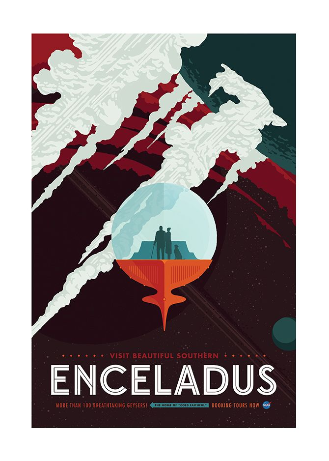 Space Tourism Posters - Created by Invisible CreatureCommissioned by NASA's Jet Propulsion Laboratory, these prints are available for sale as a set at the Invisible Creature Shop.