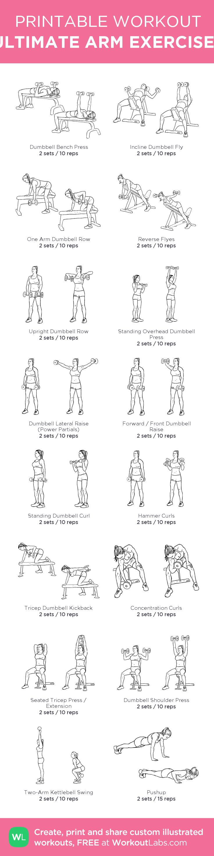 ULTIMATE ARM EXERCISES: my custom printable workout by @WorkoutLabs #workoutlabs #customworkout http://www.weightlossjumpstar.com/exercise-to-lose-weight/