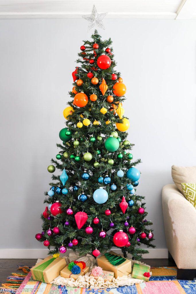 Rainbow Christmas Tree Rainbow Christmas Tree Christmas Tree Decorating Themes Rainbows Christmas