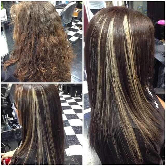 Dark brown with #blonde #peekaboos ....