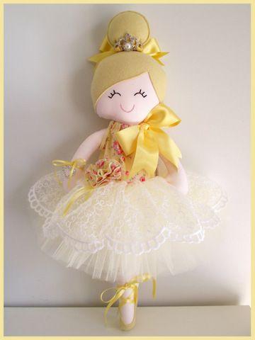 Aisling♥  Handmade  Doll.....Ballerina  $90  Full tulle  tutu w. a beautifuldelicate scalloped-edgelace overlay w. satin ribbon t...