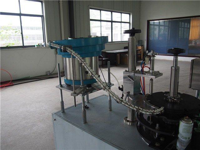 automatic aerosol spray valve filling insert machine     More: https://www.aerosolmachinery.com/sale/automatic-aerosol-spray-valve-filling-insert-machine.html