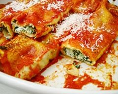 Quick-ish spinach and ricotta cannelloni