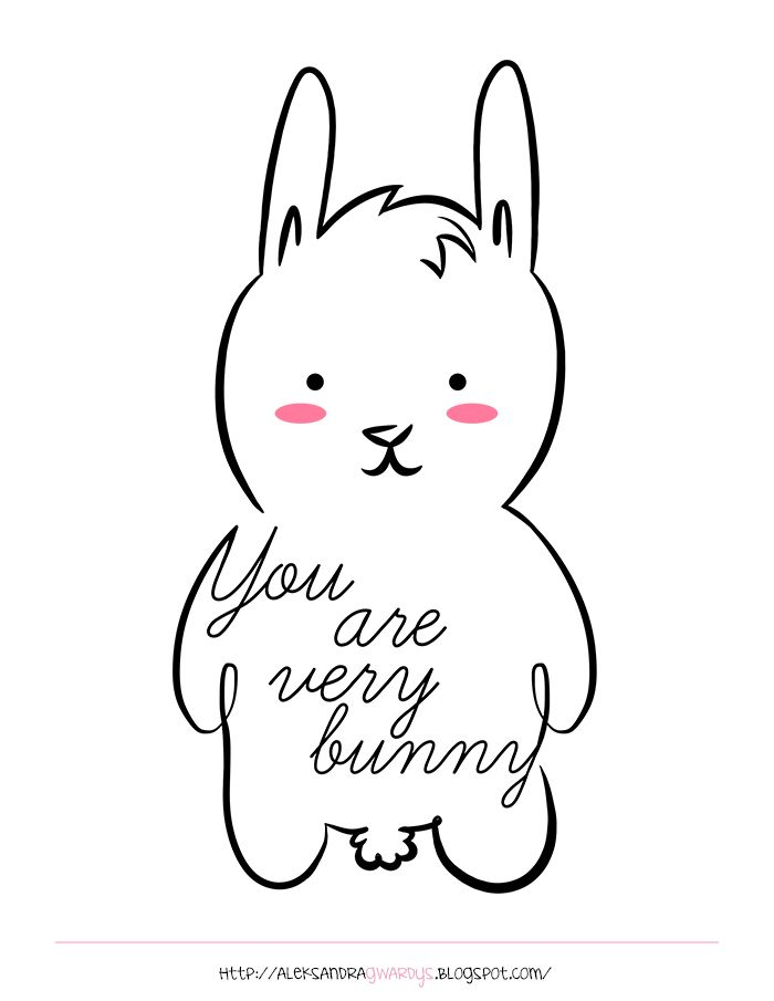 "I am funny, but ""You are very bunny""  #doodlaki"