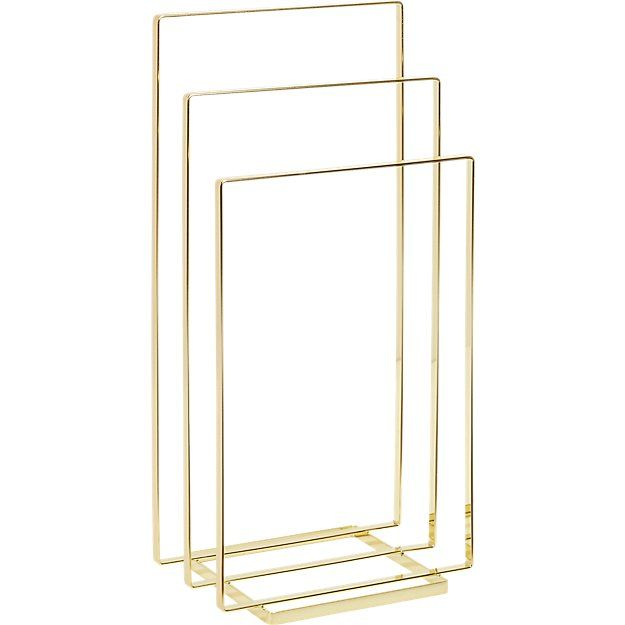 CB2: brass towel/blanket rack, $100 (chrome, $80)