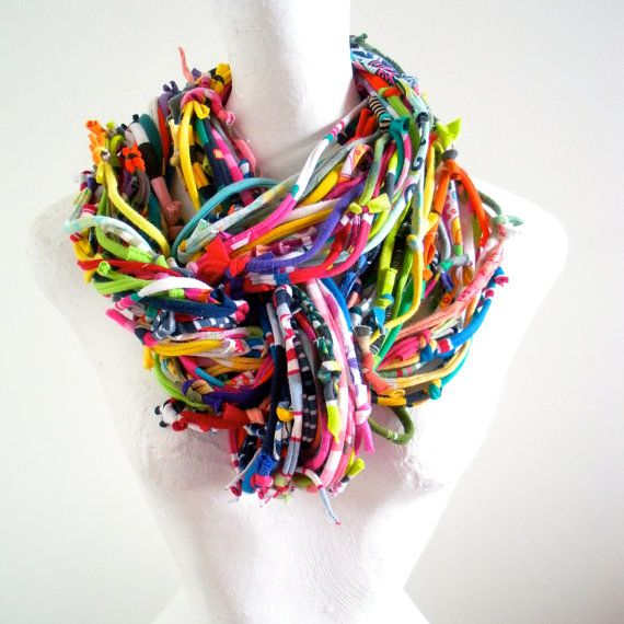 how to make scarves with jewelry attached