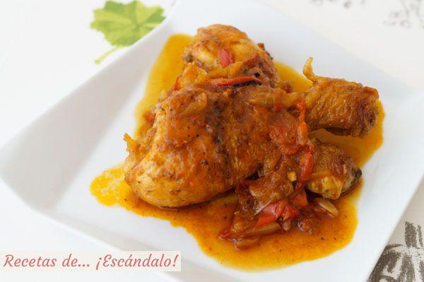 Receta De Pollo Al Chilindron Pollo Recetas Con Carne Y
