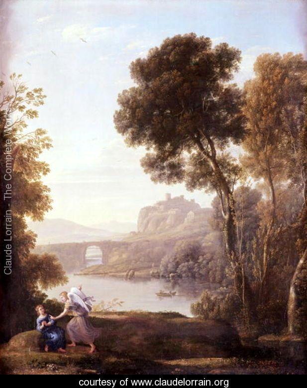 Landscape with Hagar and the Angel, 1646 - Claude Lorrain (Gellee) - www.claudelorrain.org