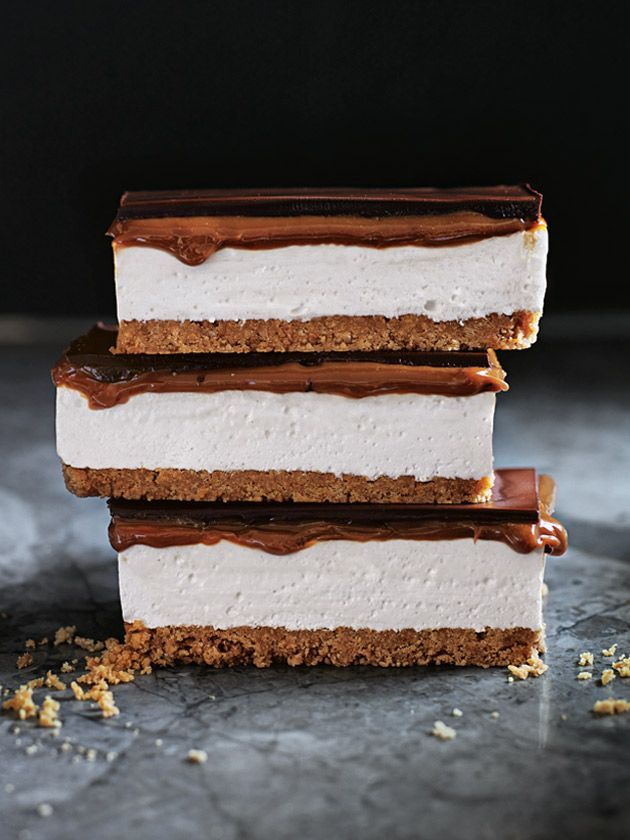 s'more caramel slice from donna hay magazine autumn issue #86