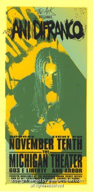 1996 Ani Difranco Concert Poster by Mark Arminski (MA-9634)