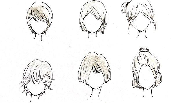 Tutorial menggambar rambut pendek manga cewek   MAYAGAMI