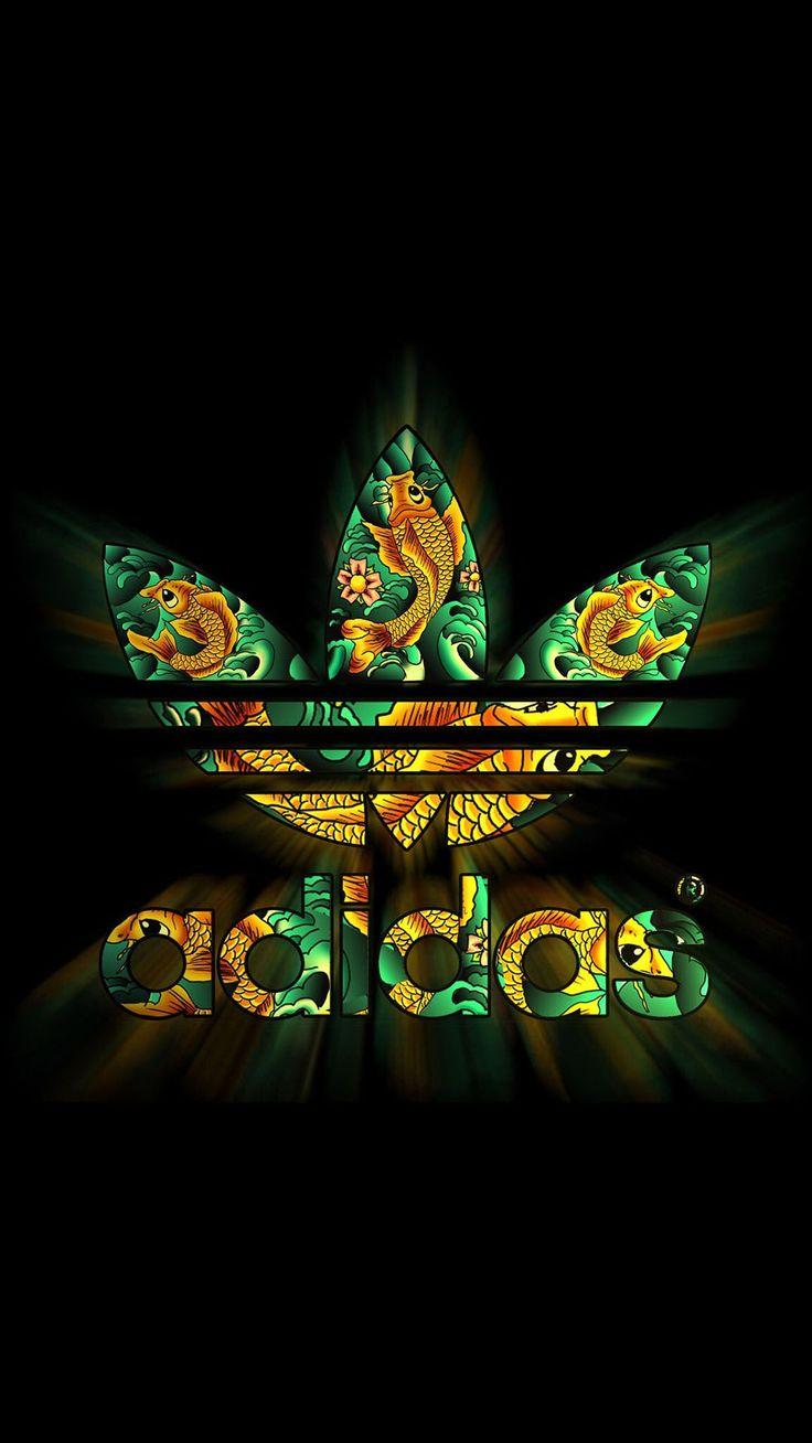 Adidas Dark Logo Pattern Shiny #iPhone #6 #plus #wallpaper