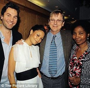 Thandie Newton {her mother is from Zimbabwe & her father is British} with her parents