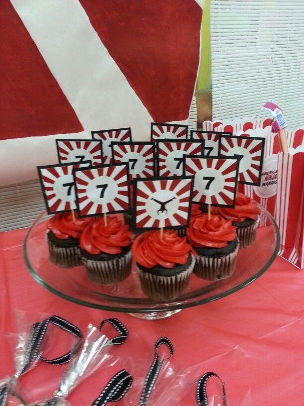 Cupcakes American Ninja Warrior Party Pinterest Cupcake