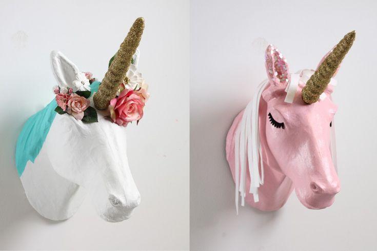 2 Ways to Decorate a Mache Unicorn Head #papermache #unicorn #hobbycraft