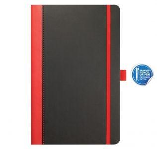 Promotional A5 Castelli Contrast notebook, Embossed medium notebook