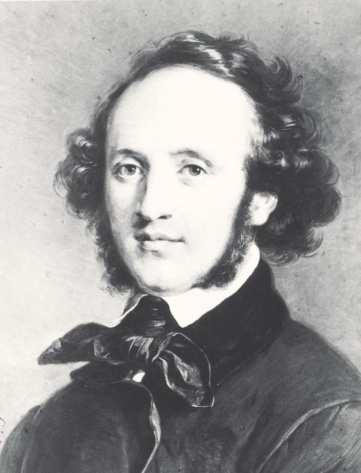 """Felix Mendelssohn (1809 - 1847) Mendelssohn's short life (February 3, 1809 - November 4, 1847) for the most part justified his name, Felix, which means """"happy, lucky"""" and from which we get the word """"felicitous."""" His life showed little of the storms that marked Beethoven's or the stresses of Berlioz's."""