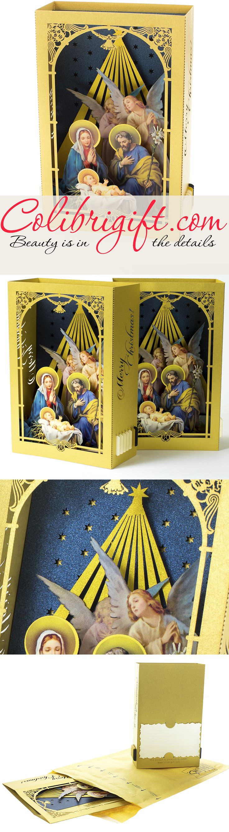 Holy Night, Christmas cards, New Year greeting cards, Colibrigift