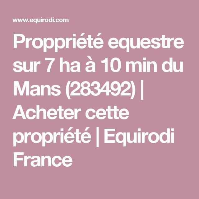 Proppriété equestre sur 7 ha à 10 min du Mans (283492) | Acheter cette propriété | Equirodi France