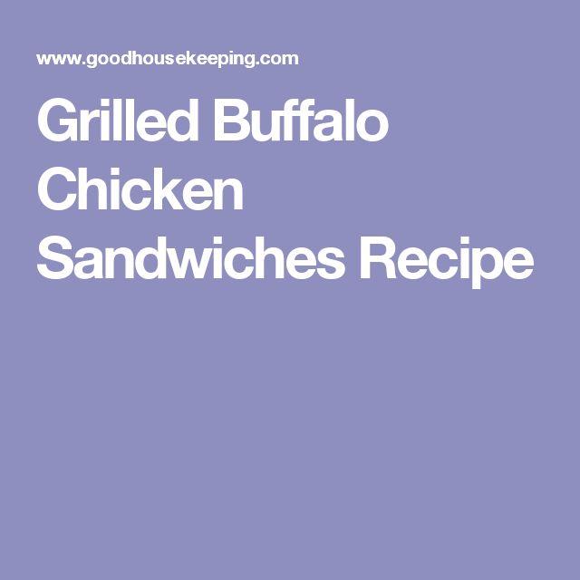 Grilled Buffalo Chicken Sandwiches Recipe
