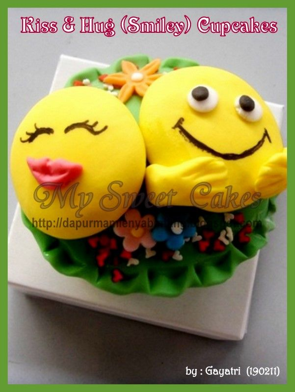 Kiss & Hugs smille cupcakes