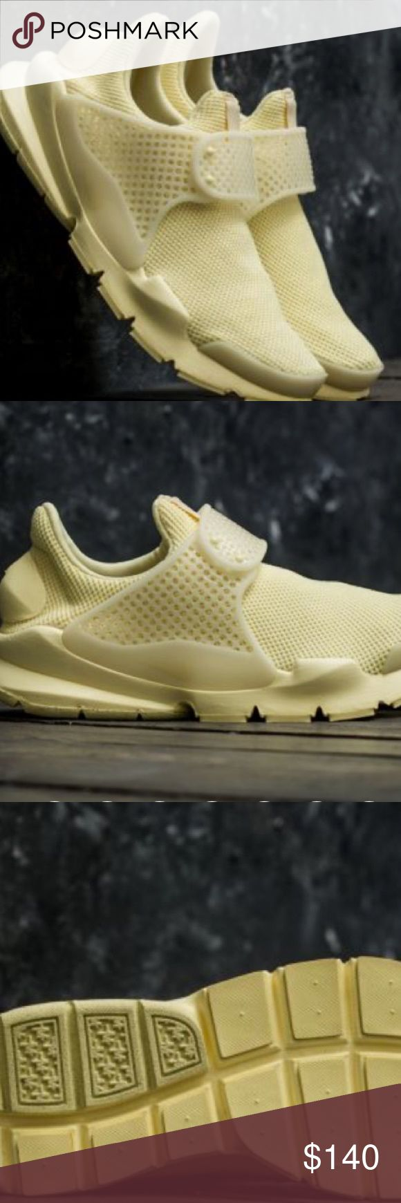 Nike Sock Dart Lemon chiffon Brand new, never worn.  Guaranteed compliments everywhere you go. Extremely comfortable unlike any other. Looks great with black, white our grey outfits. Men's size 6= Women's size 8. Nike Shoes Sneakers