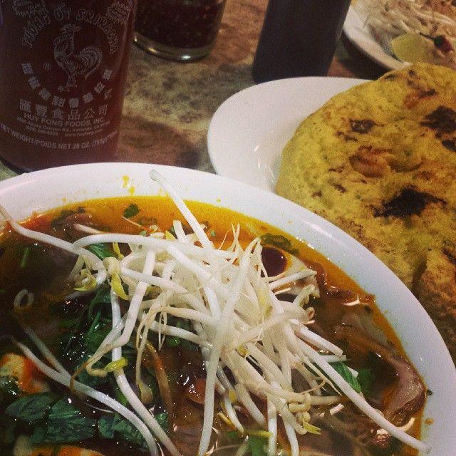 Instagram photo by customer: dexjames  It was so good ... @sriracha_gang @bsuicorealtor @ctinaaa @janaphan #muingogui #bunbohue #pho #banhxeo #sriracha