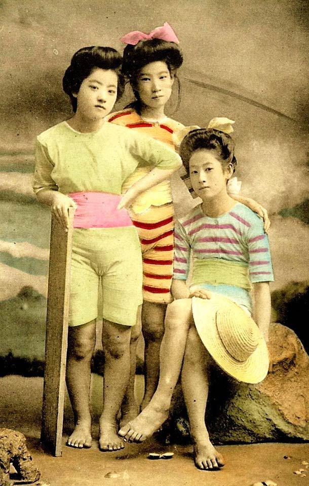 Geisha en maillot de bain – 20 photos du Japon à l'ère Meiji | Ufunk.net