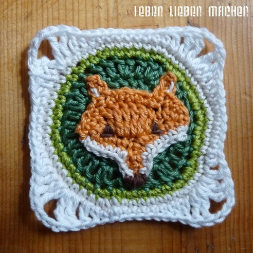Lovely wildlife granny squares tutorial - in German but pictures easy to follow.  LEBEN LIEBEN MACHEN: Anleitung des Monats: Waldtier-Granny-Squares