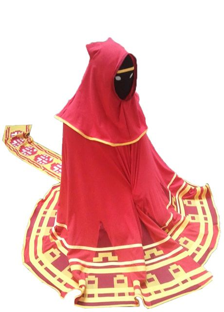 Journey video game cosplay costume Journey robe dress robed figure cosplay costume halloween costume.