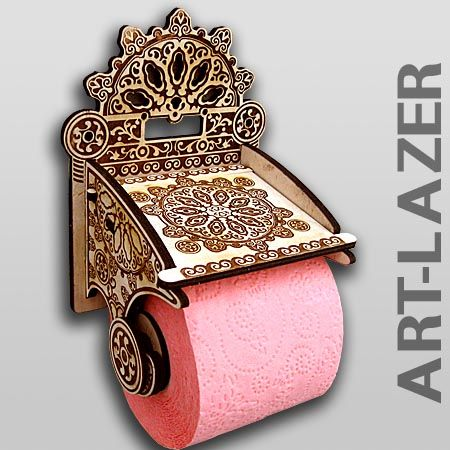 << Thinks I'll NEVER make on the laser. #craftylaser #toilet #bathroom Especially with pink toilet paper...
