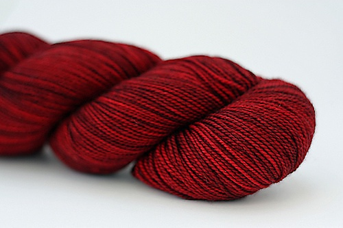 Another beautiful red - Madeline Tosh Sock in colourway Tart