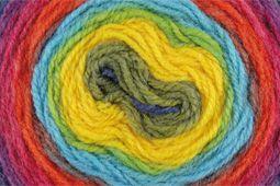 Mehrfarben Farbe (55) von PAINT Garn (Polyacryl Wolle) von Herbst / Winter von Katia