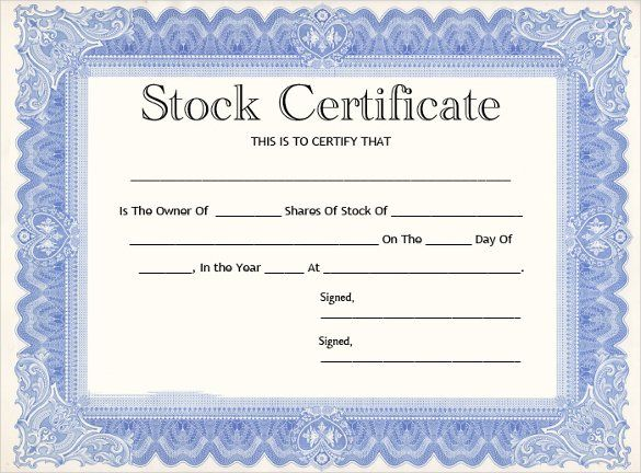 11 Stock Certificate Templates Free Printable Word Pdf Certificate Templates Free Printable Certificate Templates Blank Certificate Template