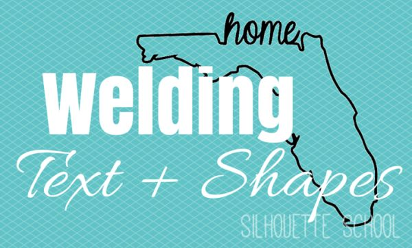 Welding Text and Shapes in Silhouette Studio by My Paper Craze for Silhouette School