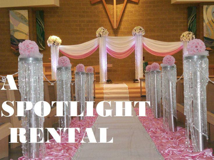 Pink Wedding Decorations, Crystal Decoration, Ceremony Decoration, Wedding,  Elegant, Beautiful Wedding