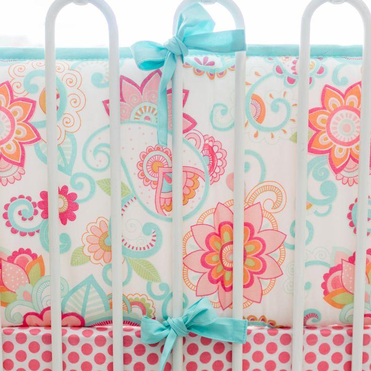 My Baby Sam Girls Gypsy Baby Crib Bumper