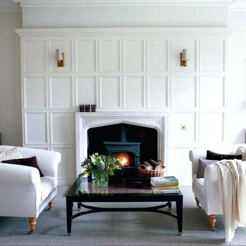 Wood Panel Fireplace Surround Best Ideas Images On Design And Surrounds Inserts