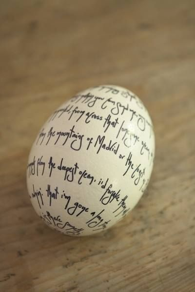 Ostara Ritual  Write Your intentions ( health, happiness, Fertility, Love ) on an egg for Ostara Night then bury it and plant a seed or flower above the egg and watch it grow