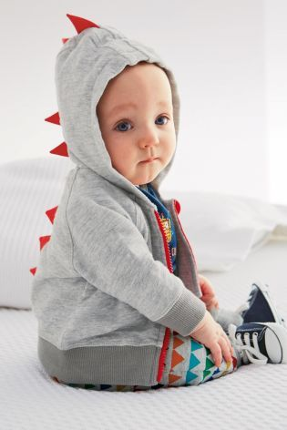 Buy Grey Dino Hoody (0-18mths) online today at Next: United States of America