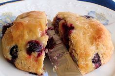 Our blueberry lemon scones feature two healthy fruits and are one of the healthies indulgences you will ever eat!